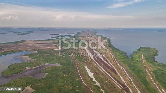 aerial view of Danube Delta, Romania, Europe