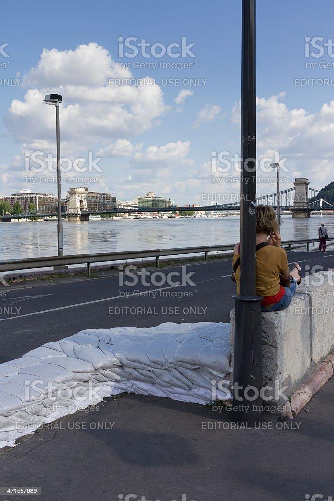 Danube flood royalty-free stock photo