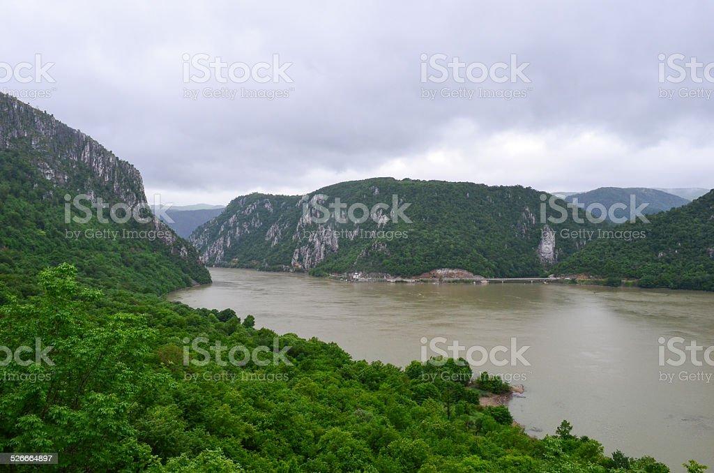 Danube gorge stock photo