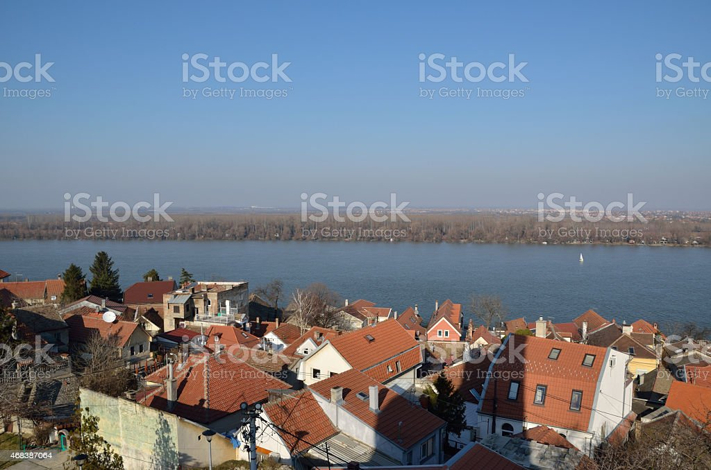 Danube in Zemun, Belgrade. stock photo