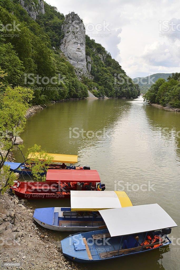 danube landscape stock photo