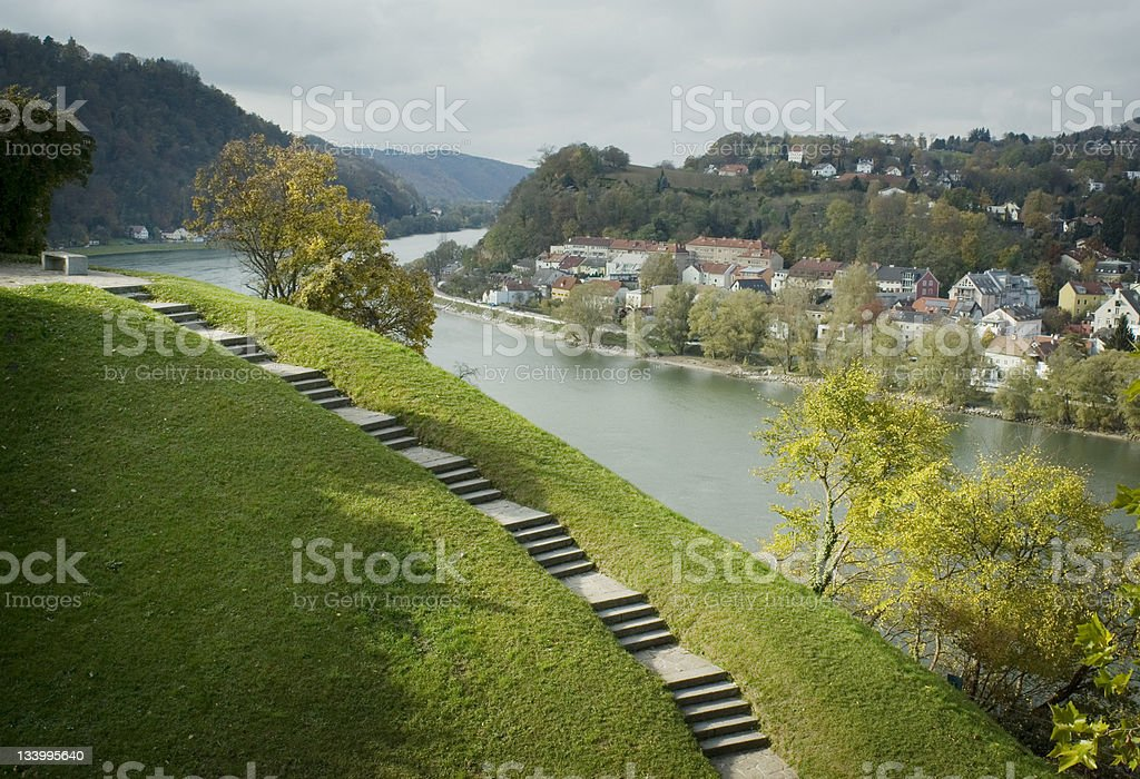 Danube Linz Austria stock photo