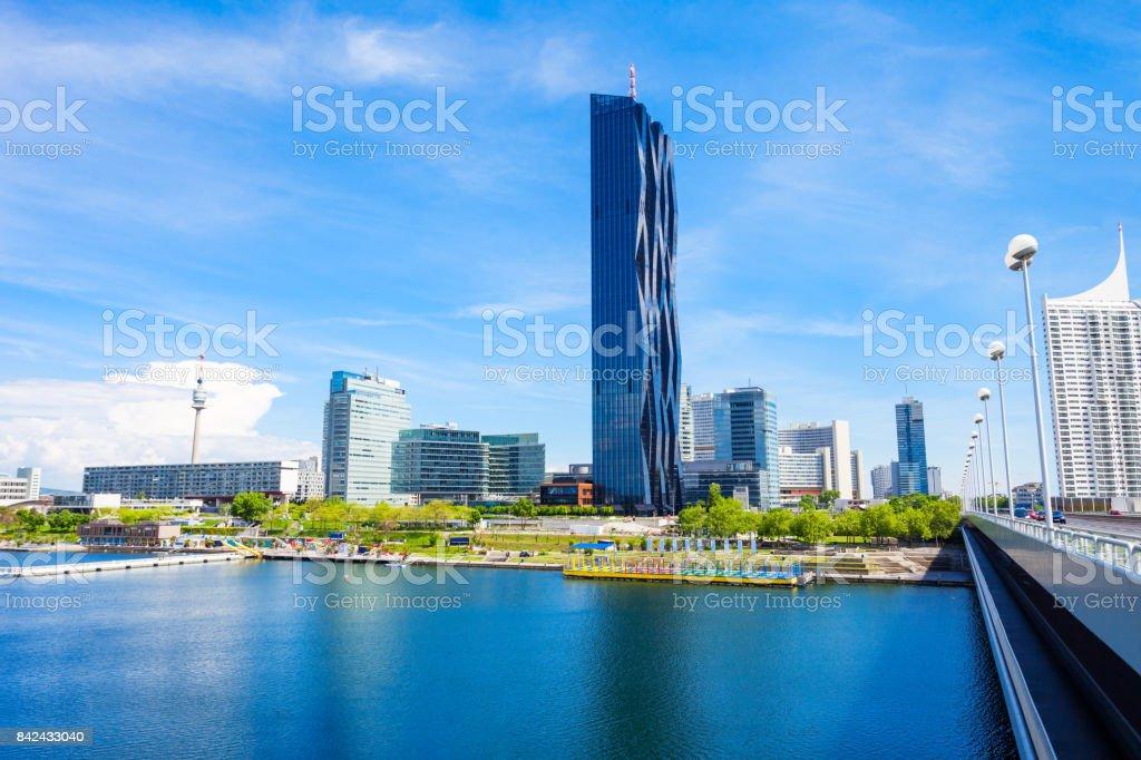 Danube modern district, Vienna stock photo