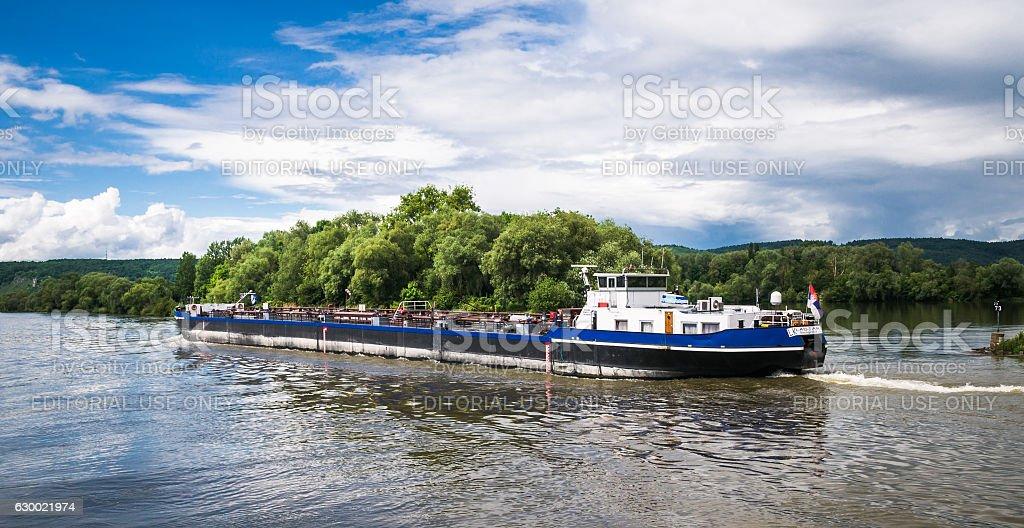 Danube Oll Barge stock photo