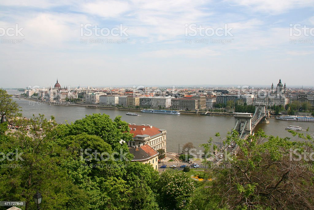 Danube river, Budapest, Hungary. royalty-free stock photo