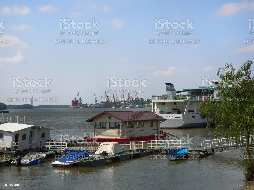 Danube river in Braila, Romania stock photo