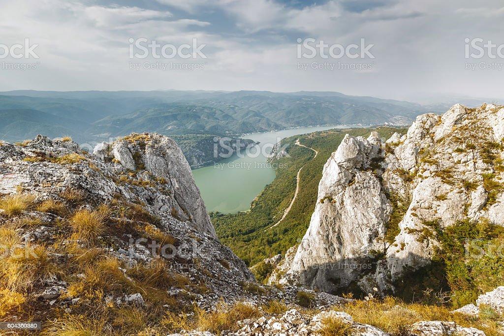 Danube river in Djerdap National park, Serbia foto de stock libre de derechos
