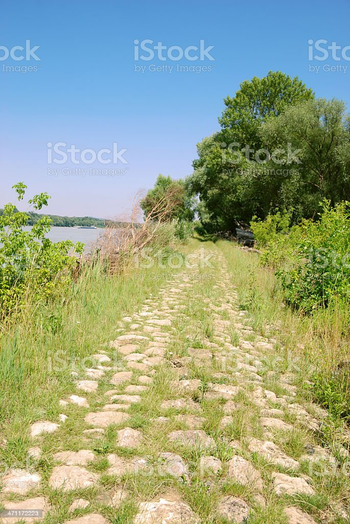 Danube Riverbank royalty-free stock photo