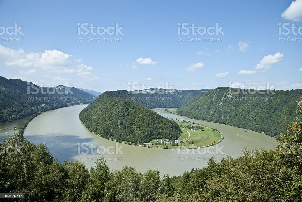 Danube Schloegener Schlinge stock photo