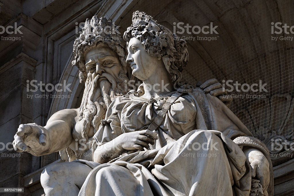 Danubius fountain, Vienna, Austria stock photo