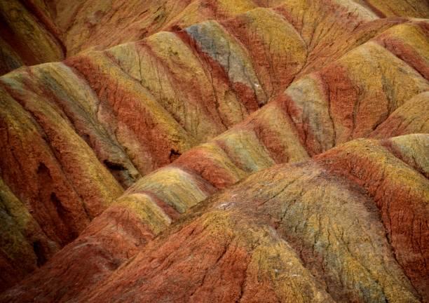 Danxia landform geological park, Zhangye, Gansu, China stock photo