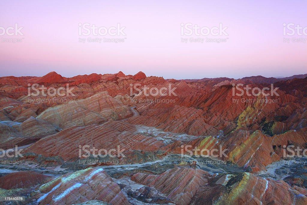 Danxia landform in zhangye,gansu provinces,china stock photo
