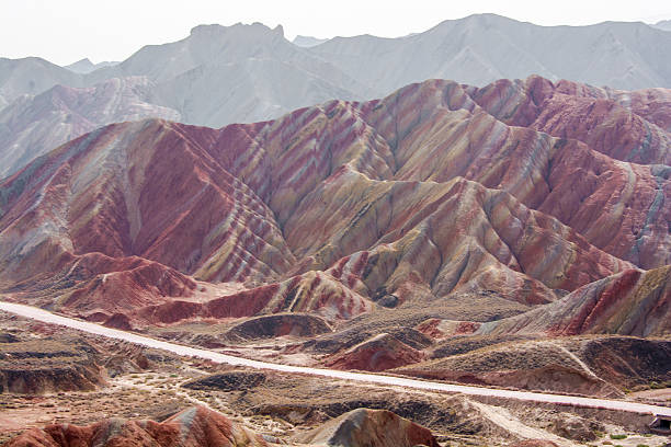 Danxia Landform Colorful mountain in China ,Danxia Landform,Zhangye Zhangye Danxia Landform ,China stock pictures, royalty-free photos & images