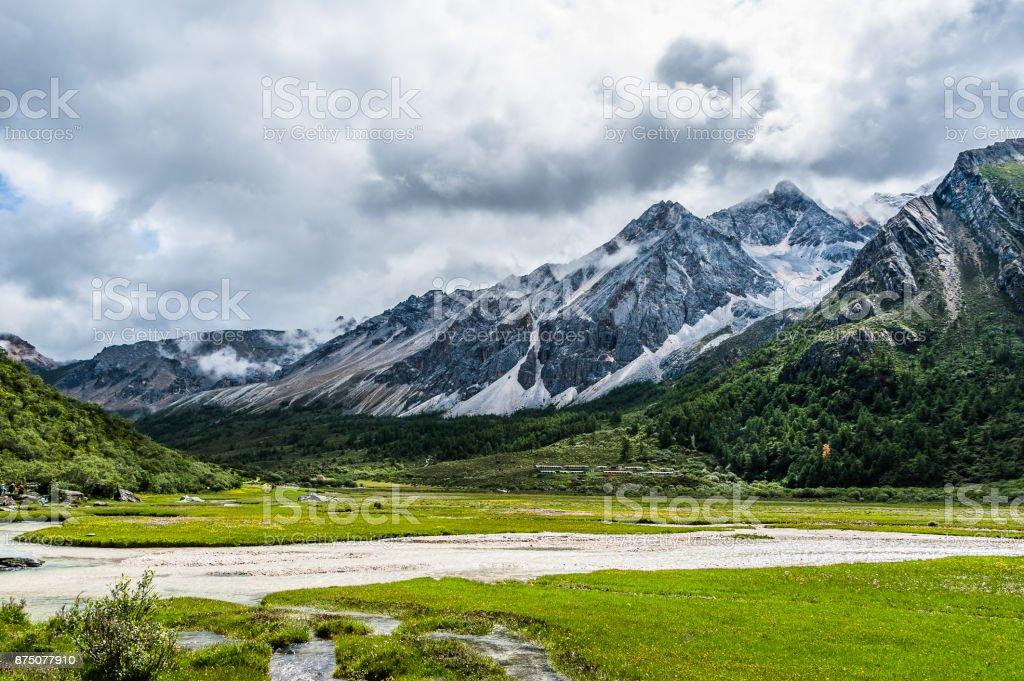 Daocheng Aden scenic spot, Sichuan stock photo