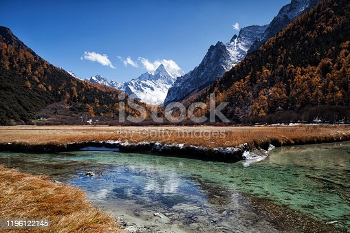 Daocheng Yading Nature Reserve in autumn, Sichuan, China