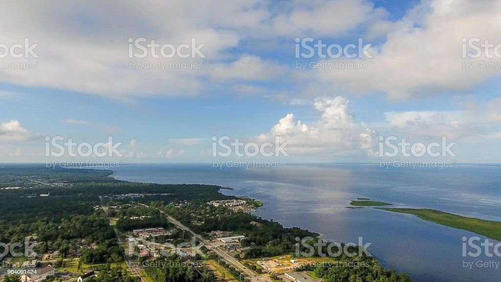 Daphne, Alabama waterfront - Royalty-free Aerial View Stock Photo