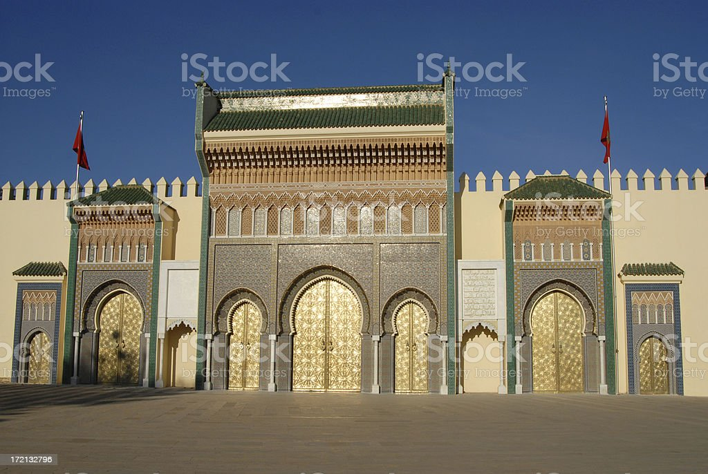 The beautifully restored entrance, Dar el-Makhzen, to the Royal...