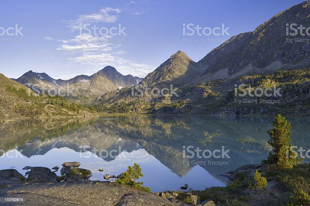 Darashkol lake. Altay motives. stock photo