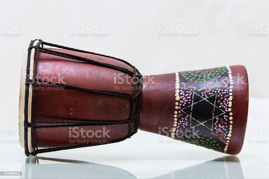 Darbouka Designed . Made of wood stock photo