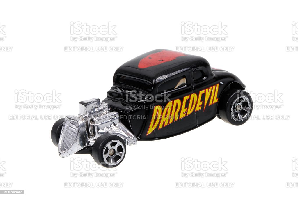 Daredevil 1934 Ford Hot Rod Maisto Diecast Toy Car stock photo