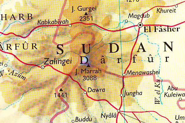 Darfur Sudan Map Stock Photo & More Pictures of Africa - iStock on