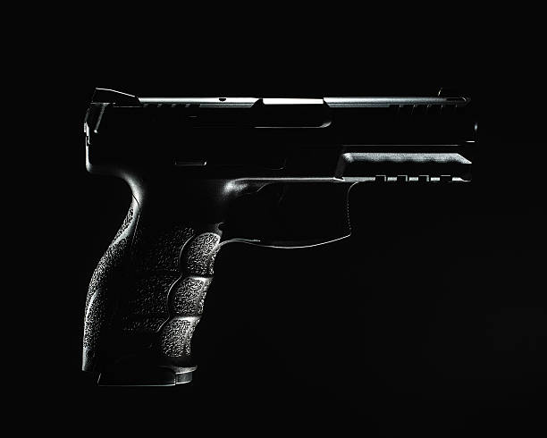 Dark 9mm Handgun stock photo