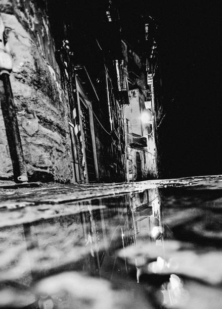 Dark alley - Palermo, Sicily stock photo