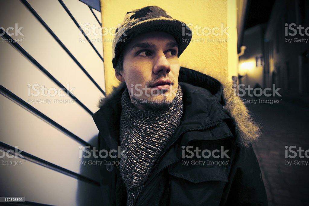 dark alley portrait royalty-free stock photo
