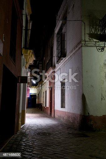 Dark Alleyway In Santa Cruz District Of Seville Stock Photo & More Pictures of 2015