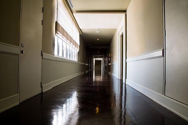 Dark Hospital Hallway