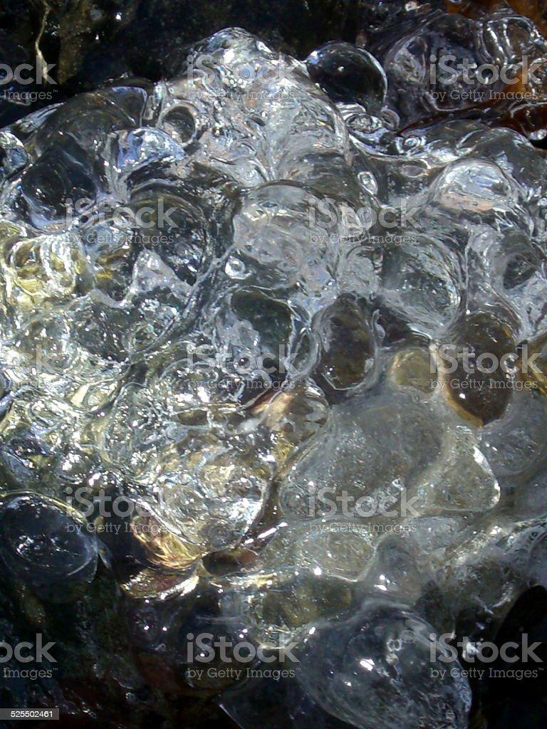 Dark and Light Ice stock photo