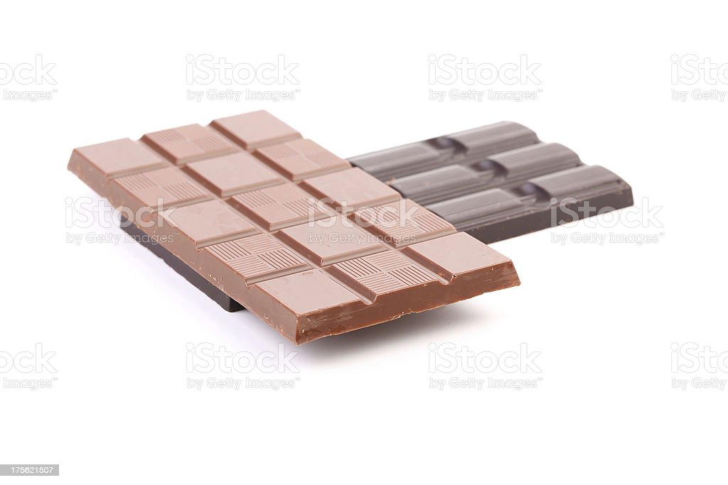 Dark and milk chocolate bar. royalty-free stock photo