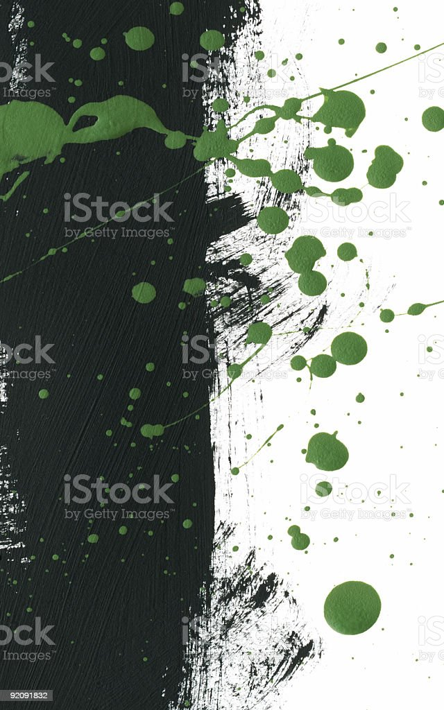 Dark and Neon Green Painting royalty-free stock photo