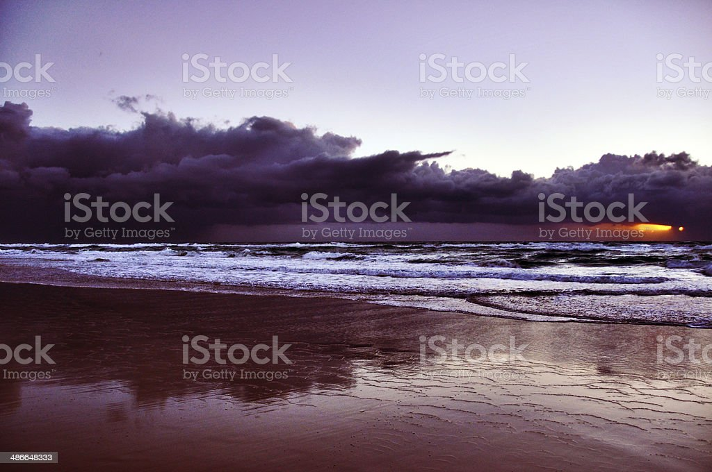 Dark and Stormy sunrise royalty-free stock photo