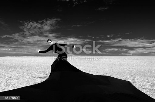 istock Dark and strange fashion portrait 143175802