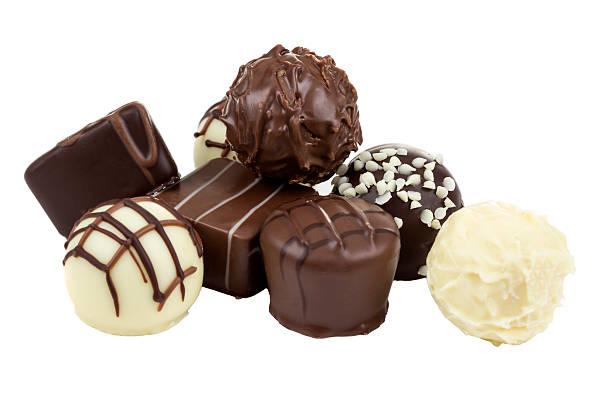 Dark and white chocolate stock photo
