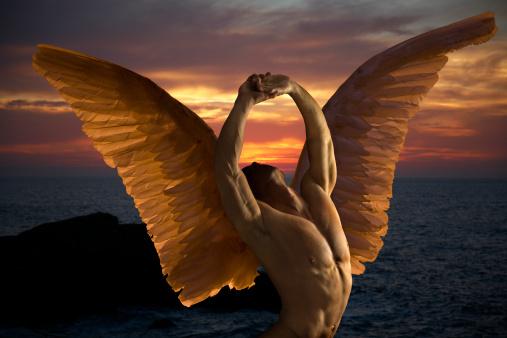 Dark angel in ecstasy