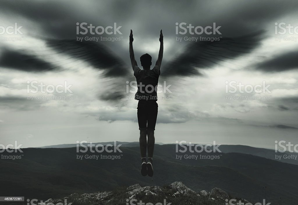 Oscuridad angel - foto de stock