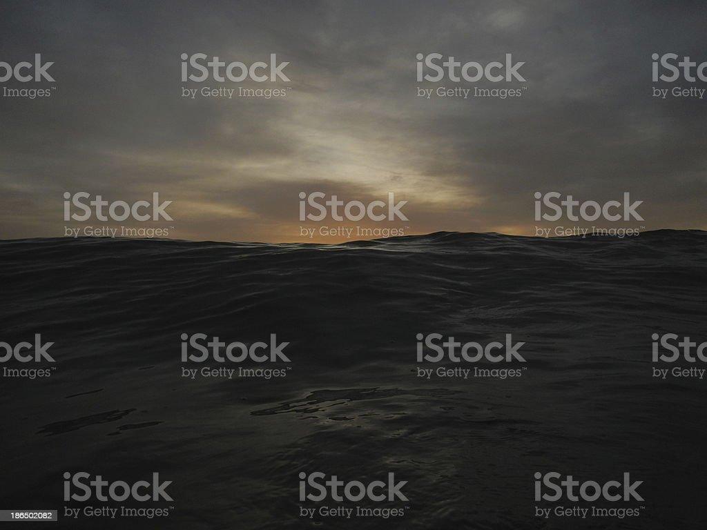 Dark approaching wave royalty-free stock photo