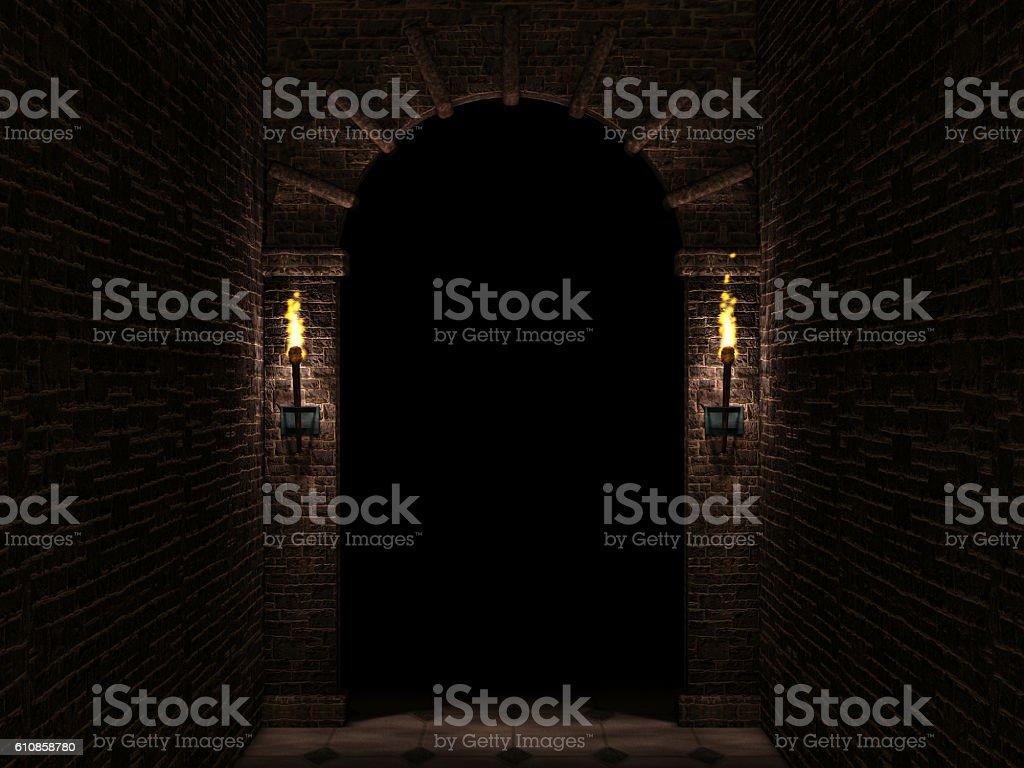 Dark arch stock photo