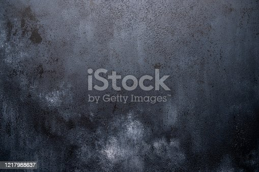 istock Dark background made of wood with imitation of light chalk stains for design 1217988637