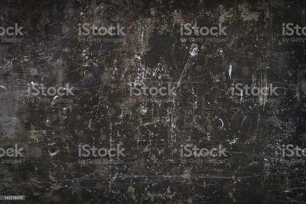 Dark background of a dirty scratched wall. stock photo