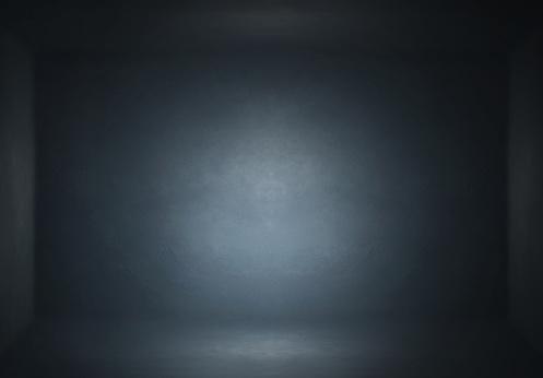 Dark Digitally generated Studio Room background or Backdrop.