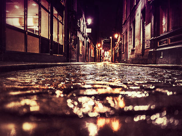 Dunkle der backstreet in Dublin – Foto