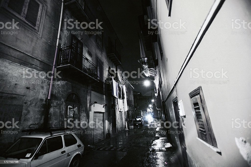 dark backstreet royalty-free stock photo