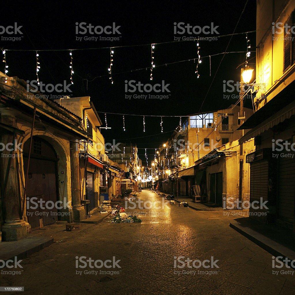 dark backstreets royalty-free stock photo