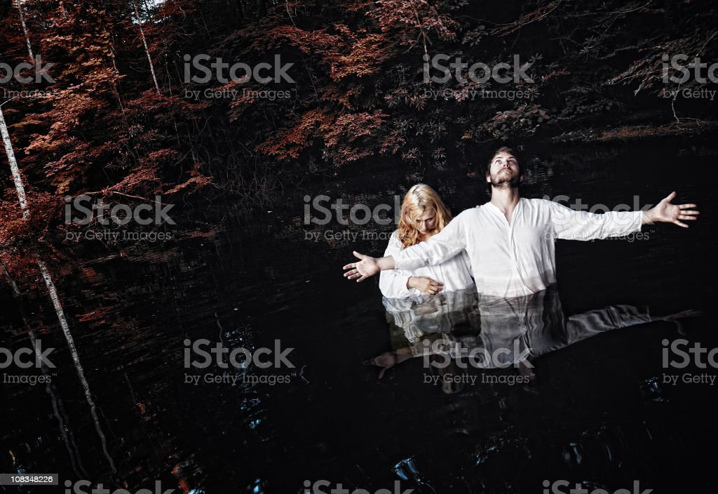 Dark Baptism stock photo