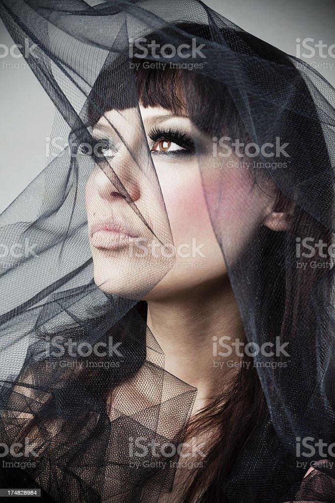 Dark beauty royalty-free stock photo