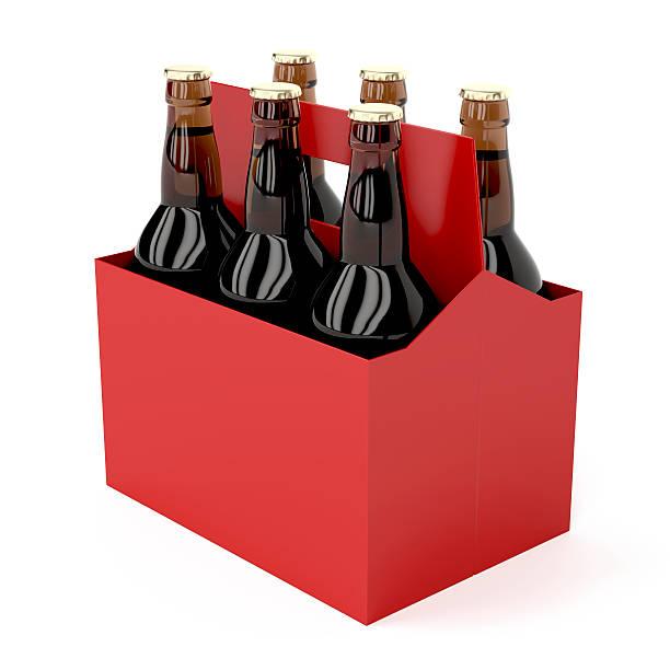 dark bouteilles de bière - pack de six photos et images de collection
