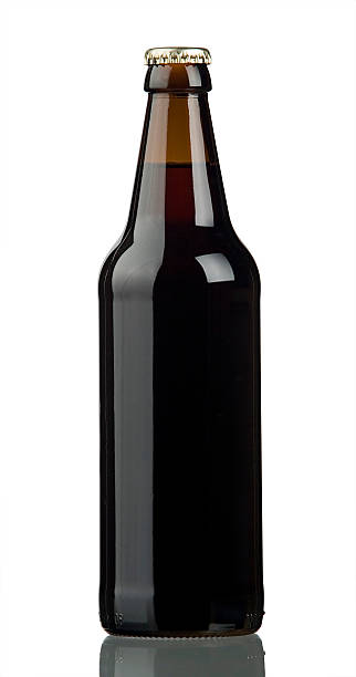dark beer cut out - dark beer stock photos and pictures